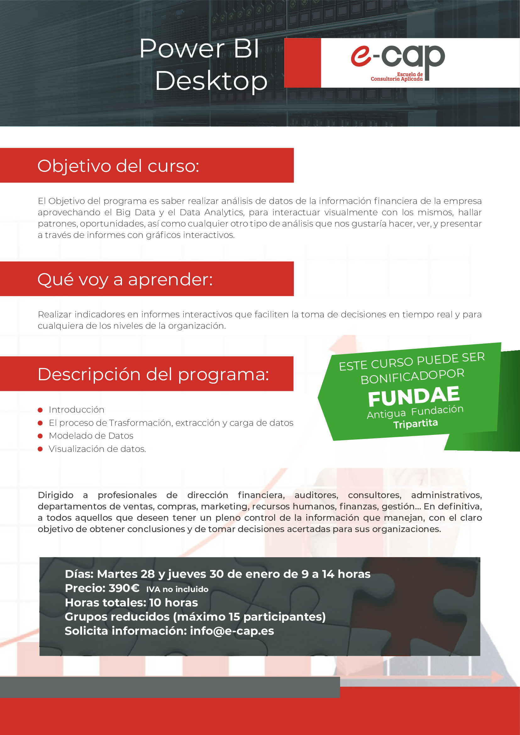 curso big data data analytics eCap