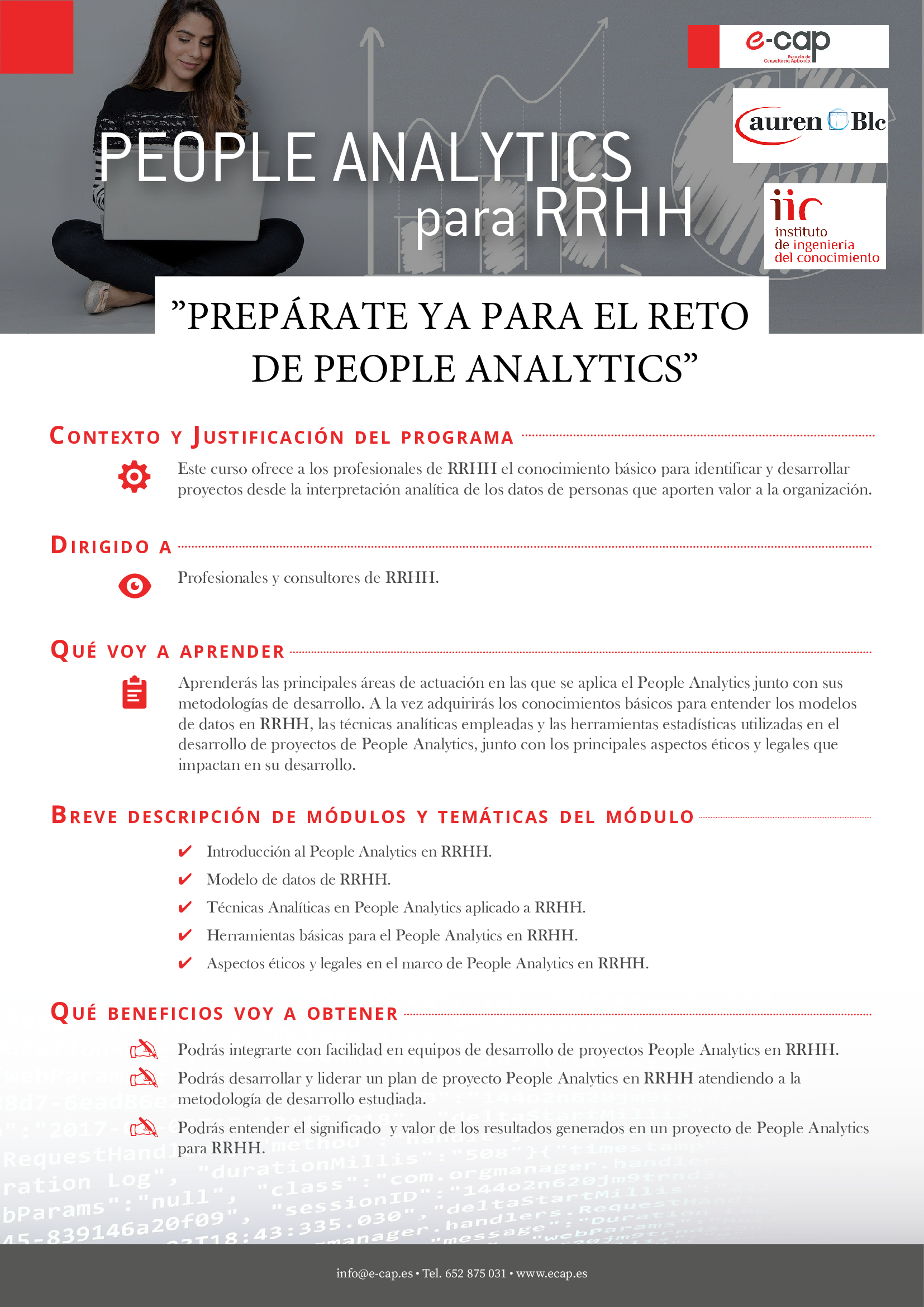 Curso people analytics en RRHH